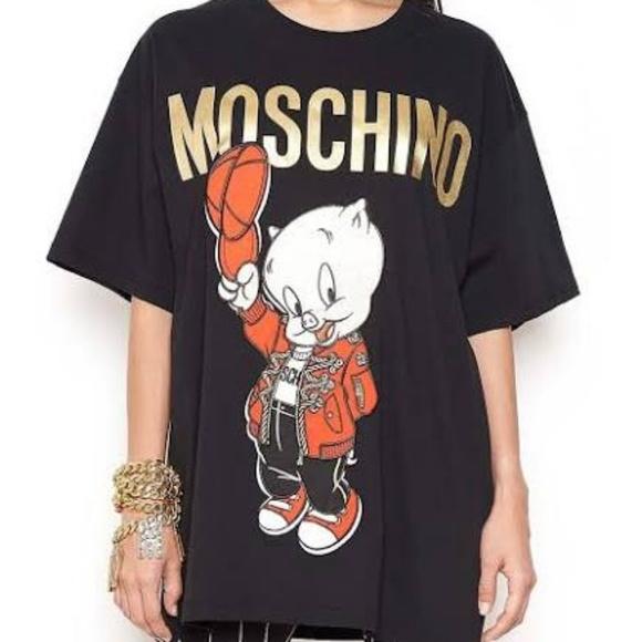 9b378b47aa9 Moschino Tops | Piggy Tshirt | Poshmark
